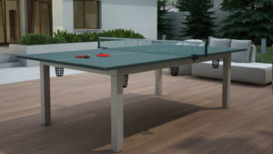 Ogrodowy stół bilardowy z blatem do tenisa (ping-ponga) Lissy