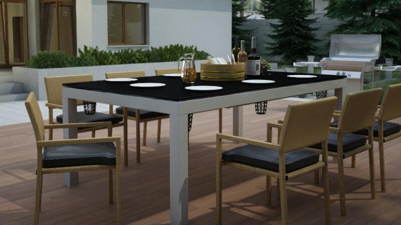 Meble do ogrodu 3w1 Lissy - Stół ogrodowy, Stół bilardowy, Stół do tenisa (ping-ponga)